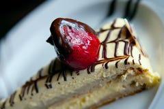 Dessert avec la fraise Image libre de droits
