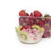 Dessert avec la fraise. Photographie stock libre de droits