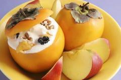 Dessert avec le kaki. Image stock