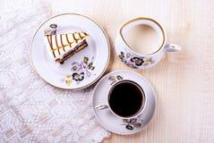 Dessert avec un gâteau Image stock
