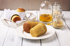 Dessert Baba au Rhum Stock Images