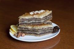 Dessert baklava Stock Photography