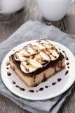 Dessert banana cheesecake Stock Photos