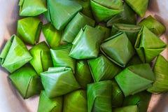 Dessert Banana leaf wrap, Thai style Royalty Free Stock Photography