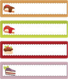 Dessert banners Royalty Free Stock Photography