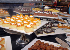 Dessert bar with assorted sweets. Stock Images