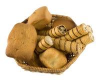 Dessert basket Stock Images