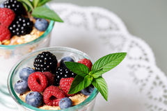 Dessert with berries Stock Photography