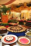 Dessert bij buffethuwelijk royalty-vrije stock afbeeldingen