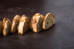 Dessert biscuits with almonds, cakes of Italian tradition. Called cantuccini n Stock Images