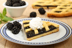 Dessert blackberry pie Royalty Free Stock Images