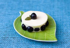 Dessert with blueberries Stock Photography