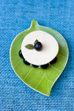 Dessert with blueberries Royalty Free Stock Photography
