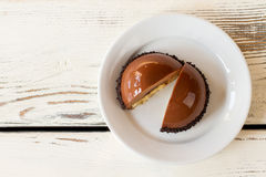Dessert of brown color. Royalty Free Stock Images