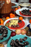 Dessert at buffet Royalty Free Stock Photography
