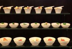 Dessert at buffet dinner stock photography