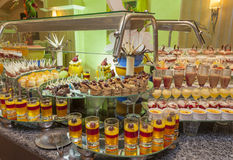 Dessert buffet in a hotel Stock Photography