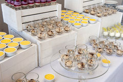 Dessert buffet royalty free stock image