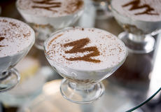 Dessert at cafe on display Royalty Free Stock Photo