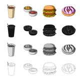 Dessert, cafe, restaurant, and other web icon in cartoon style.Food, treats, glass, icons in set collection. Royalty Free Stock Images