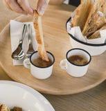 Dessert in caffè Fotografie Stock