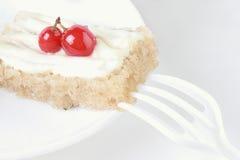 Dessert cake with berry Stock Photos