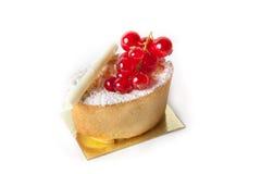 Dessert cake with currant Stock Photos