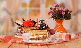 Dessert cake on the table Stock Photo