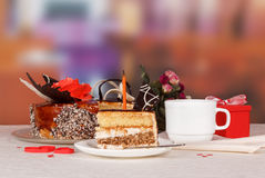 Dessert cake on the table Royalty Free Stock Images