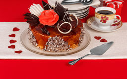 Dessert cake on the table Stock Images