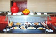 Dessert cakes at restaurant of luxury hotel Royalty Free Stock Image