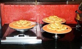 Dessert cakes at restaurant of luxury hotel Stock Photography