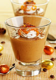 Dessert with caramel Royalty Free Stock Images