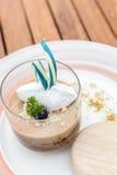 Dessert caramel Crumble custard Royalty Free Stock Image