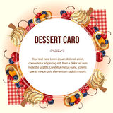 Dessert card wreath Royalty Free Stock Images