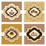 Dessert cards/labels Royalty Free Stock Images