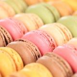 Dessert carré de biscuits de macarons de Macarons des Frances photos libres de droits