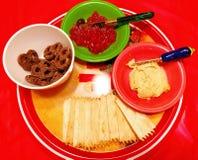 Dessert casalinghi su un piatto illustrazione vettoriale