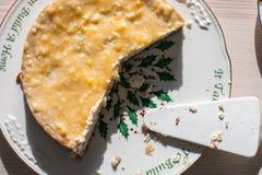 Dessert casalingo dalla ricotta fotografie stock libere da diritti