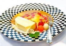 Dessert cheese cake closeup Stock Image