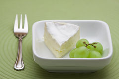 Dessert with cheese and grapes Royalty Free Stock Photo