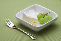 Dessert with cheese and grapes Royalty Free Stock Images