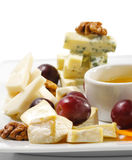 Dessert - Cheese Plate Royalty Free Stock Photo