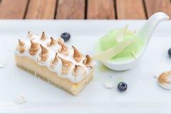 Dessert - Cheesecake Stock Photo