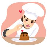 Dessert Chef Woman Stock Images