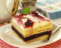 Dessert with cherries Stock Photos