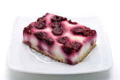 Dessert - Cherry Cheese Cake Royalty Free Stock Image