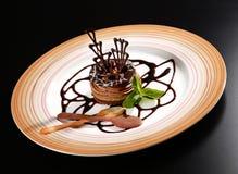 Dessert with chocolate Royalty Free Stock Photos