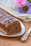 Dessert chocolate biscuit roll Royalty Free Stock Photography