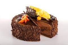 Dessert chocolate cake with fresh strawberry Stock Photography